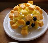 Cheesy pineapple hedgehog